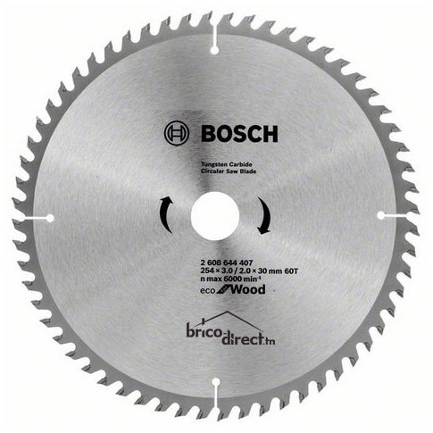 LAME CIRCUL 254x3.0/2.0x30 60T Eco Wood BOSCH