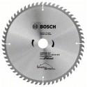 Disque bois 254mm 60T pour scie circulaire ECO BOSCH