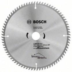 Disque Aluminium 254mm 80T pour scie circulaire BOSCH