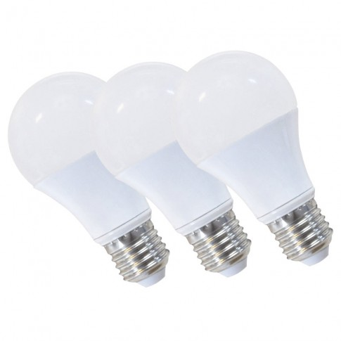 Lot de 3 ampoules LED JAUNE E27 spherique 9W
