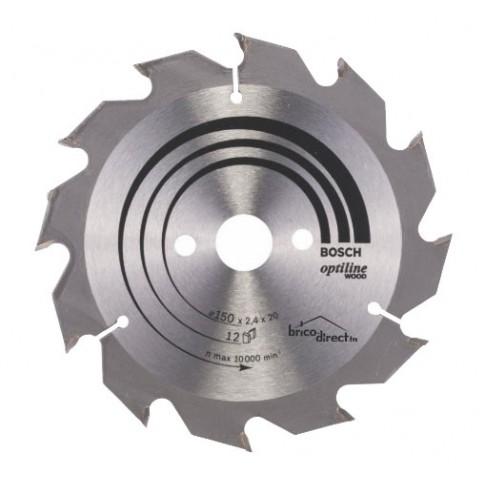 Disque bois 150mm 12T pour scie circulaire BOSCH