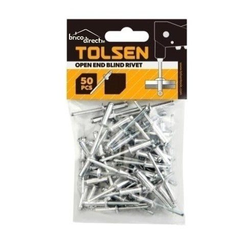 Boîte 50 rivets Aluminium 4.8x16 TOLSEN