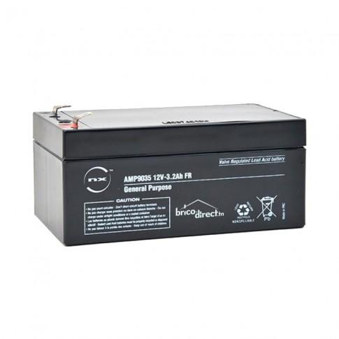 Batterie Plomb AGM 12V-3.2Ah F4.8 NX