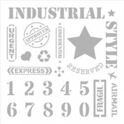 Pochoir n°9 Style Industriel