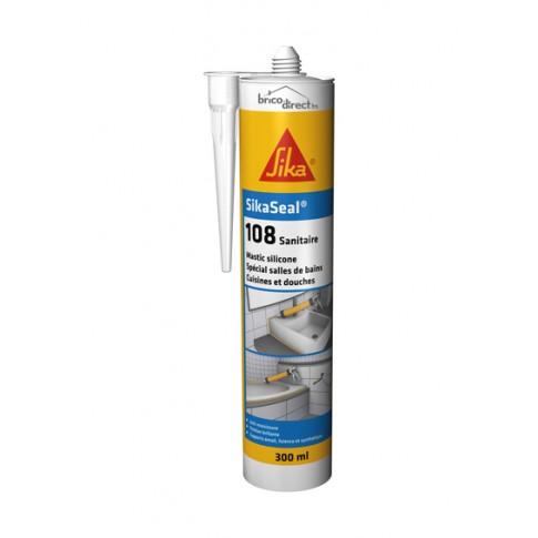 Mastic Silicone SikaSeal-108 Sanitaire Transparent