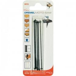 Pack de 5 lames de scie à chantourner standard pour bois Dremel MS51