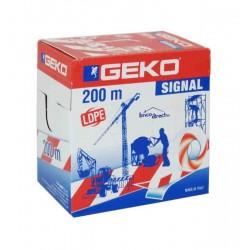 Ruban de Signalisation Rouge/Blanc 70mmx200M GEKO