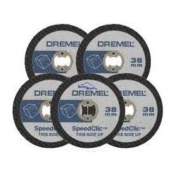 Pack de 5 disques à tronçonner pour plastiques et Plexi DREMEL SC476