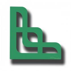 2 Supports en acier vert d'eau pour étagère de décoration ARWA 170