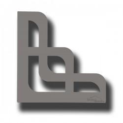 2 Supports en acier gris pour étagère de décoration ARWA 170