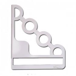 2 Supports en acier blancs pour étagère de décoration EMA 160w
