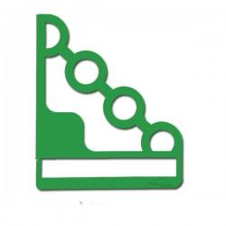 2 Supports en acier verts pour étagère de décoration EMA 160w