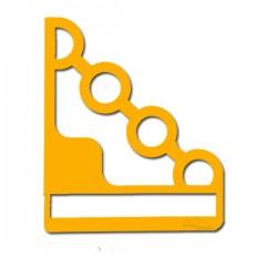 2 Supports en acier jaunes pour étagère de décoration EMA 160w