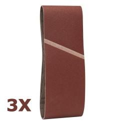 Kit de 3 bandes abrasives G120 100x610mm pour ponceuse à bande BOSCH