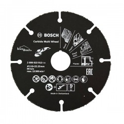 Disque à tronçonner Multi Wheel en carbure Noir 115mm BOSCH
