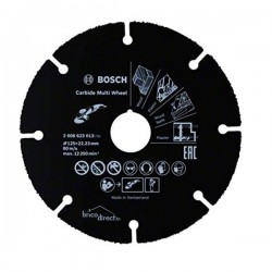Disque à tronçonner Multi Wheel en carbure Noir 125mm BOSCH