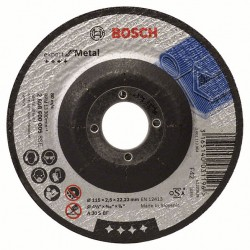 Disque de coupe pour métaux Ø115mm BOSCH