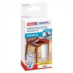 Scratch Velcro à coudre et à coller Universal blanc 1Mx20mm TESA