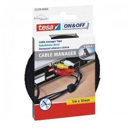 Attaches-câbles scratch Velcro 5M x 10mm TESA