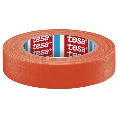 Ruban en tissu recouvert d'acrylique TESA Orange Fluo 25Mx19mm
