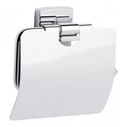 Porte papier toilette avec couvercle sans perçage TESA KLAAM 40259