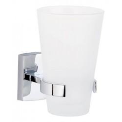 Porte-gobelet chromé et verre sans perçage TESA KLAAM 40270