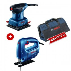 PACK Ponceuse BOSCH 220W & Scie Sauteuse 450W BOSCH
