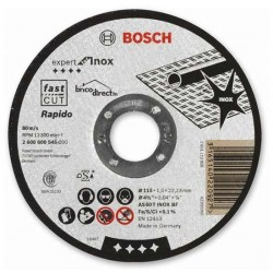 Disque de coupe RAPIDO pour Inox 115mm BOSCH