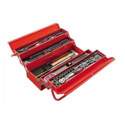 Caisse à outils métallique incluant 113 outils SAM