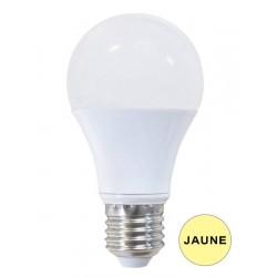Ampoules LED JAUNE E27 spherique 9W BRILLIANT