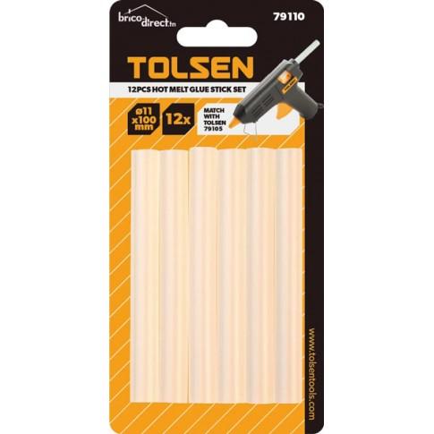 Kit 12 bâtons de colle à chaud TOLSEN
