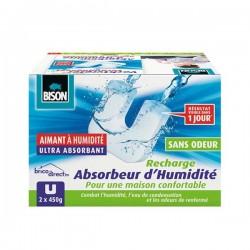 Pack de 2 Cartouches de recharge pour Absorbeur d'humidité BISON