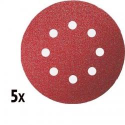 Pack de 5 disques Abrasifs pour ponceuse excentrique 125mm P180 BOSCH