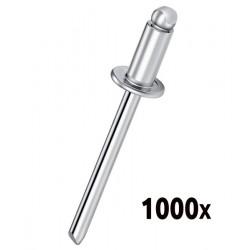 Boîte de 1000 rivets Aluminium 4.0x12 PATTA