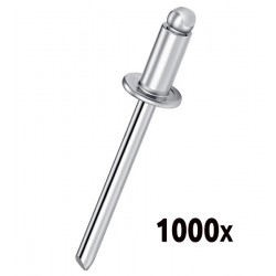 Boîte de 1000 rivets Aluminium 4.8x18 PATTA