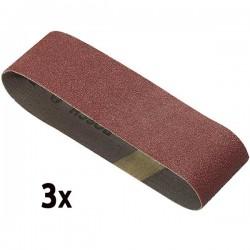 Kit de 3 bandes abrasives G80 75x533mm pour ponceuse à bande BOSCH