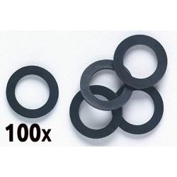 Pack de 100 joints en caoutchouc pour filetage 15x21