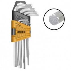 Jeu de 9 clés HEX (6 pans) 1.5 à 10 mm INGCO