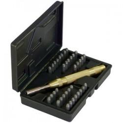 Coffret de 36 poinçons chiffres et lettres en acier 4mm KRAFTMANN 3043