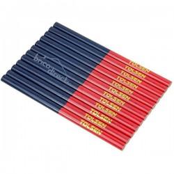 12 Crayons de Charpentier bi-couleur TOLSEN