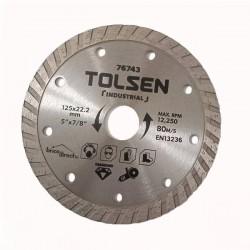 Disque Diamant Cannelé universel 125mm TOLSEN