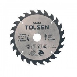 Disque bois 210mm pour scies circulaires TOLSEN