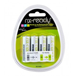 Pack 4 piles Rechargeables AA 2000mAh NX