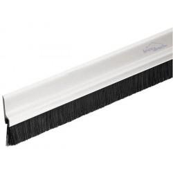 Bas de porte PVC 1m avec brosse - Blanc