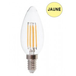 Ampoule coupe-vent LED 4W JAUNE E14 LUXRAM