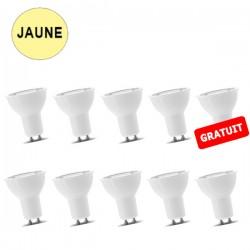 Lot de 10 ampoules spot LED 7W BLANC CHAUD GU10 LUXRAM