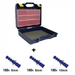 PACK Valise de rangement TAYG + 3 paquets de chevilles