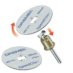 Pack Mandrin Easy SpeedClic et 2 disques de découpe DREMEL SC406