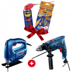 PACK Scie Sauteuse 450W BOSCH & Perceuse à percussion 570W BOSCH