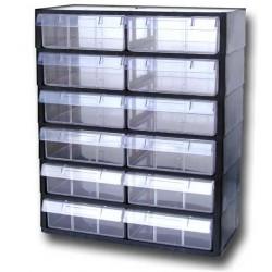Rangement modulaire 12 tiroirs PL